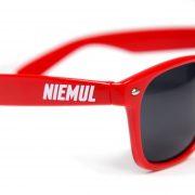Okulary przeciwsłoneczne Niemul – czerwone